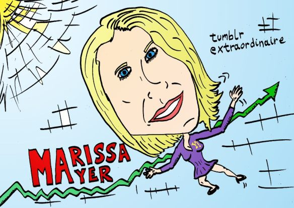 marissa mayer caricature