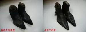 トルネードマート ブーツクリーニング&爪先修正