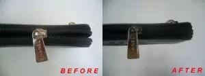 シャネルの財布ファスナー修理