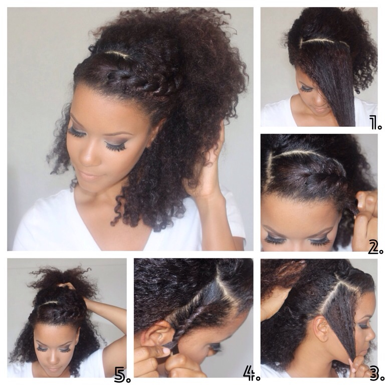 Diy Sunday Easy Natural Hair Hairstyles Yasmin Felice