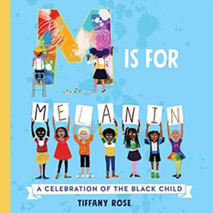 book cover with illusttrated multi-racial children holding up letters of the alphabet