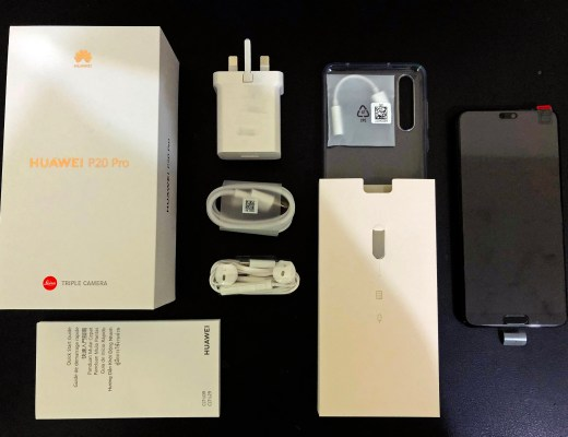 Contents of the Huawei P20 Pro