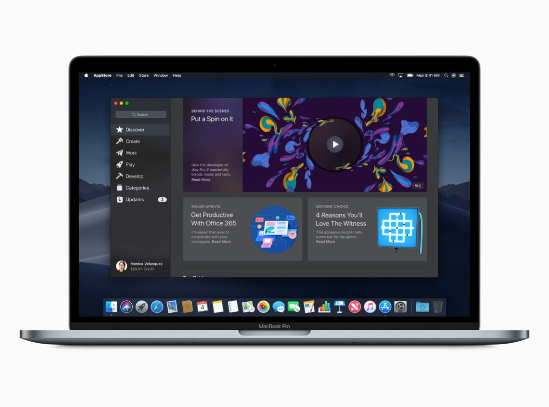 Revamped Mac App Store on macOS Mojave