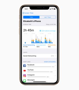 Screen time on iPhone XS with iOS 12