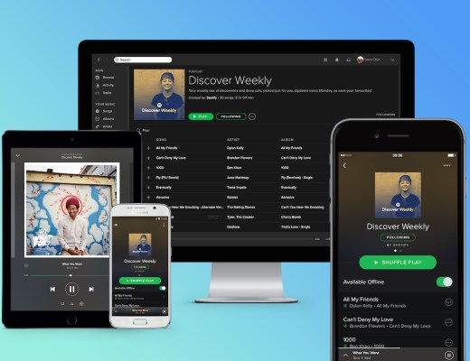 Overview of Spotify across different devices, as they prepare to launch in the Middle East