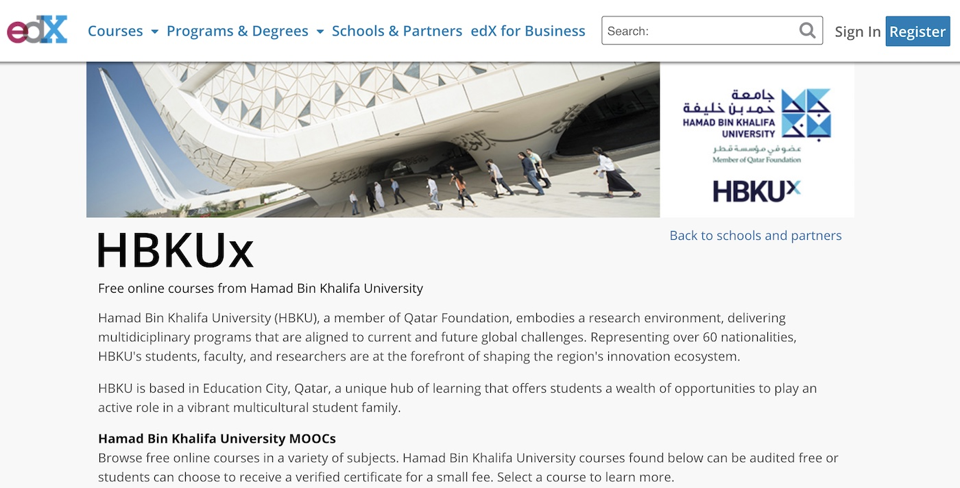 HBKUx and edX have partnered up, making HBKU the first university in the Middle East region to offer their courses on the edX platform.