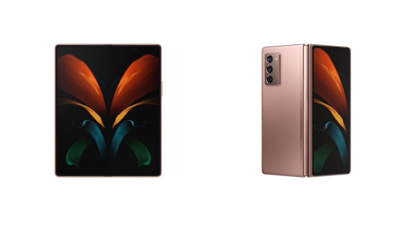 Exterior and interior view of the new Samsung Galaxy Z Fold 2