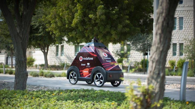 Airlift System's self-driving vehicle at Education City in Qatar