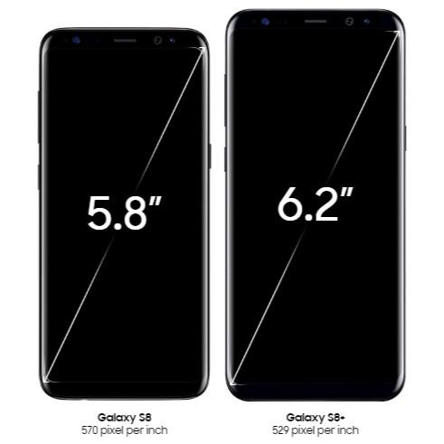 Galaxy S8 ディスプレイ