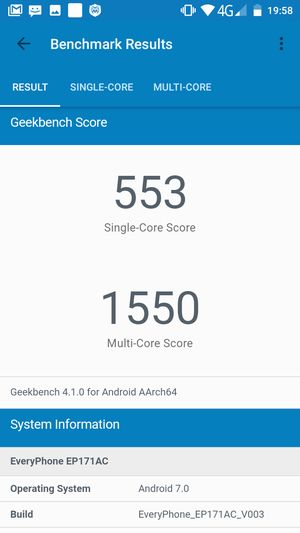EveryPhone AC Geekbench