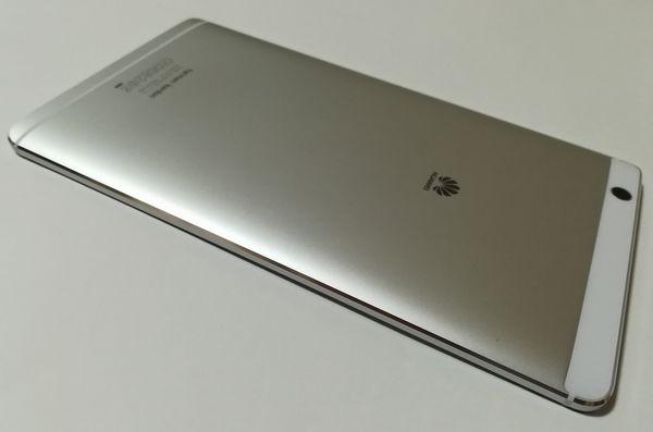 MediaPad M3の美しいアルミボディ