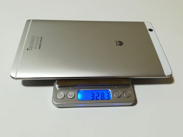 MediaPad M3の重量を計測