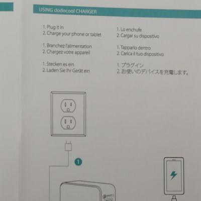 dodocoolのUSB充電器の日本語マニュアル