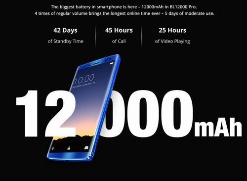 DOOGEE BL12000の12000mAhバッテリー