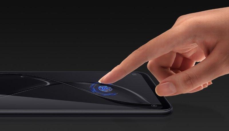 ディスプレイ内蔵の指紋センサー