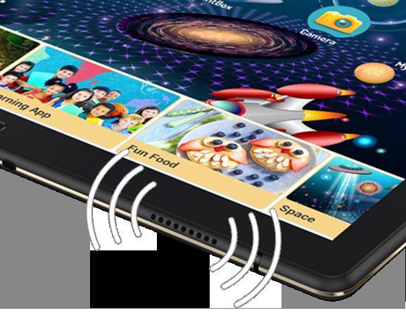 「Lenovo Tab4 10 Plus」の4つのスピーカー