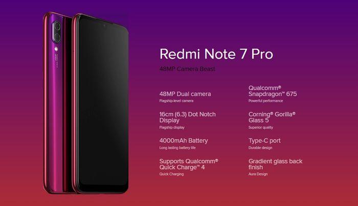 「Redmi Note 7 Pro」