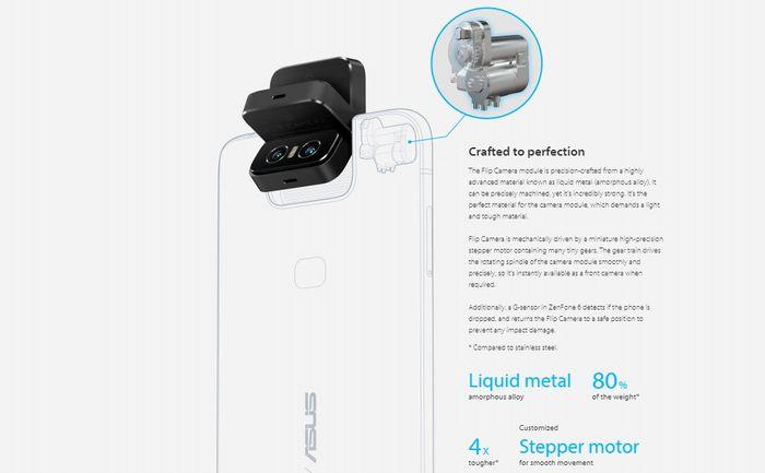 「ZenFone 6」のフリップ式カメラ