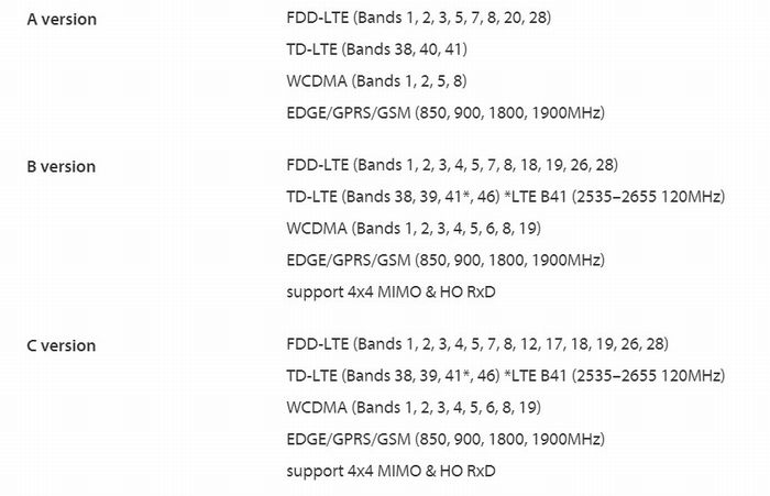 「ZenFone 6」の対応バンド