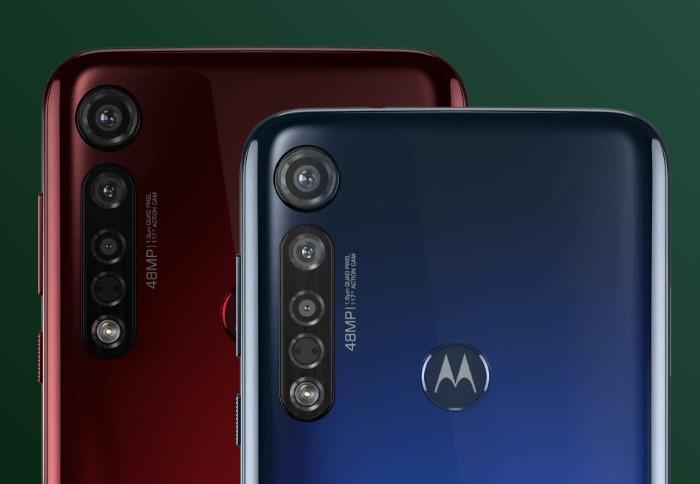 「Moto G8 Plus」のトリプルカメラ