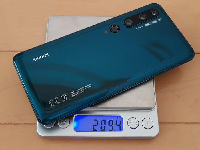 「Mi Note 10」の重量