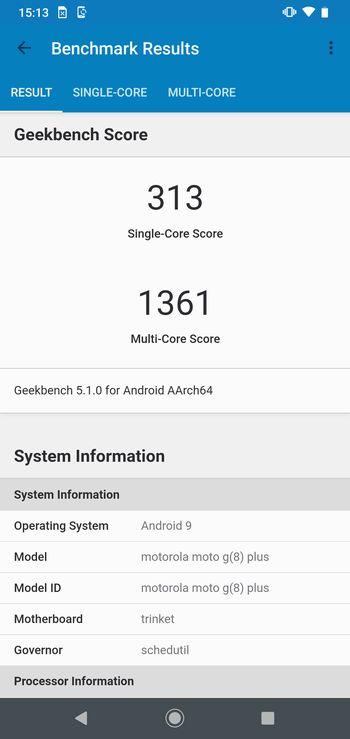「Moto G8 Plus」のスコア