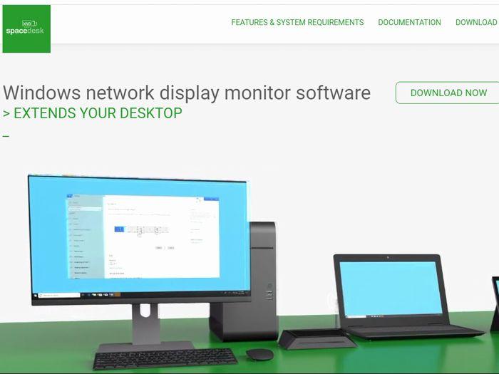 Windows用「Spacedesk」をインストール
