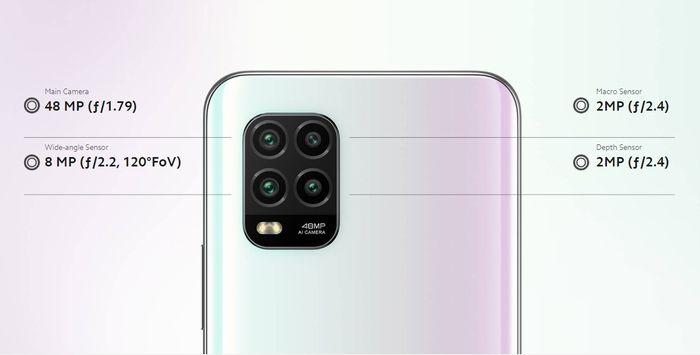 「Mi10Lite5G」は4眼カメラを搭載。
