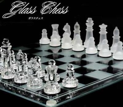 インテリア ガラスチェス