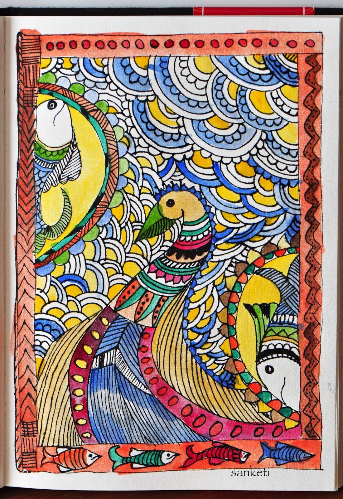 Madhubaniindian Folk Art  Niji Creative Collective