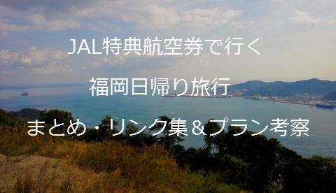 JAL特典航空券で行く福岡日帰り旅行 まとめ・リンク集&プラン考察