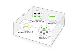 compact core network with EPC, IMS, MSC/VLR, GGSN, GMSC, SMSC, STP, DRA, HSS/HLR in a small factor pc unit