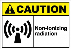 avoid working with actively powered radio equipment.