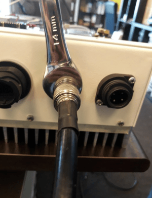 The arrestor and RF cable