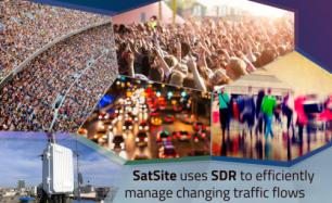SatSite for increasing traffic needs