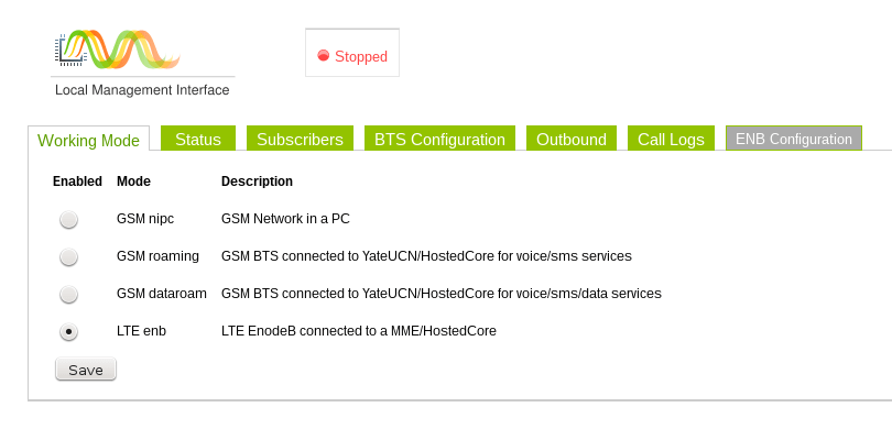 SatSite LMI Configuration for LTE 1