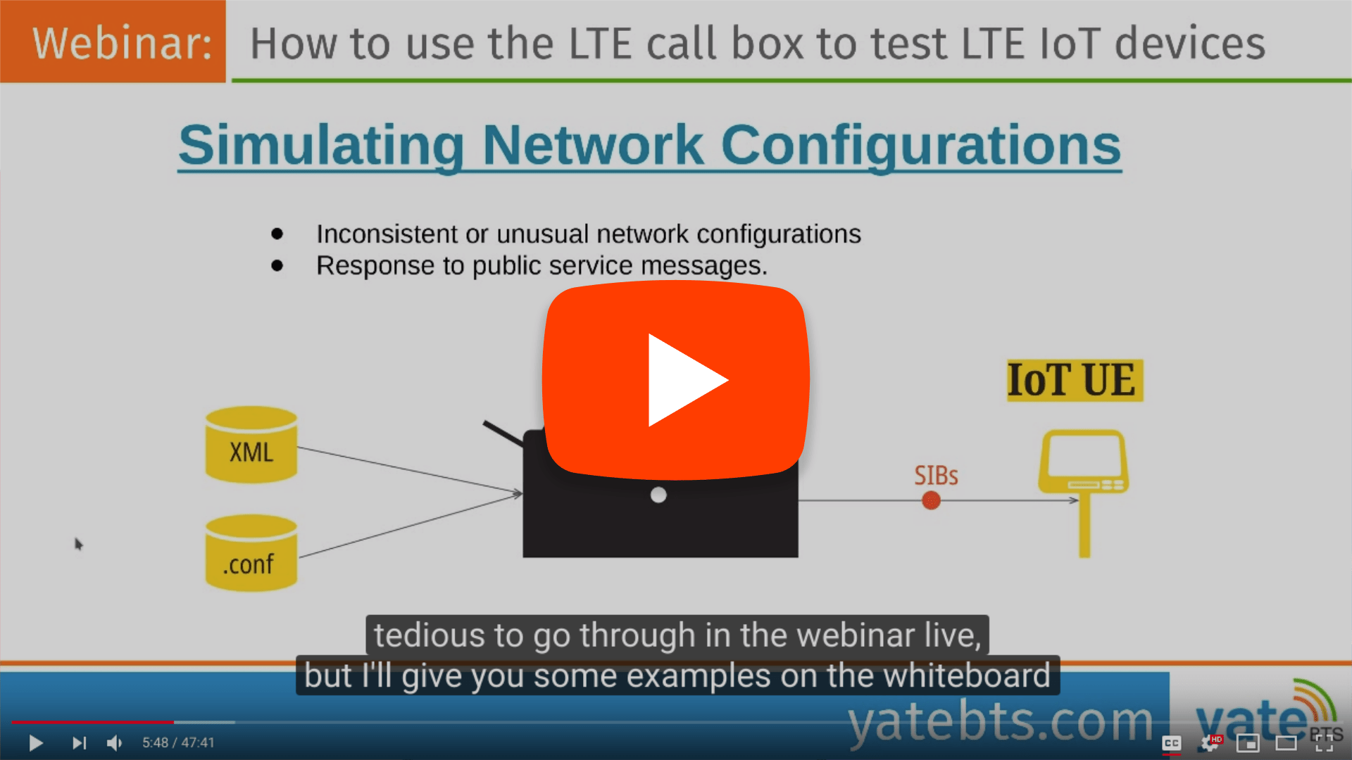 IoT device testing webinar using the LTE Callbox. Real scenarios and IoT testing demo. 2