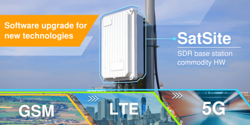 SatSite upgradeable 2G 4G 5G