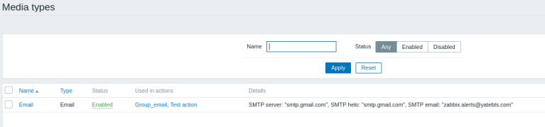 Set up Email alerts in Zabbix using a Gmail account 29