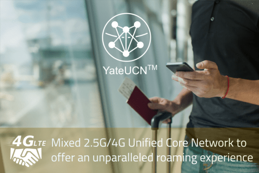 Roaming in 4G LTE using YateUCN unified core network