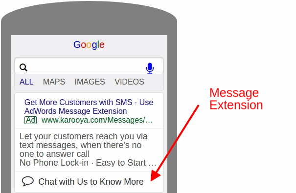 google search - Message Extensions