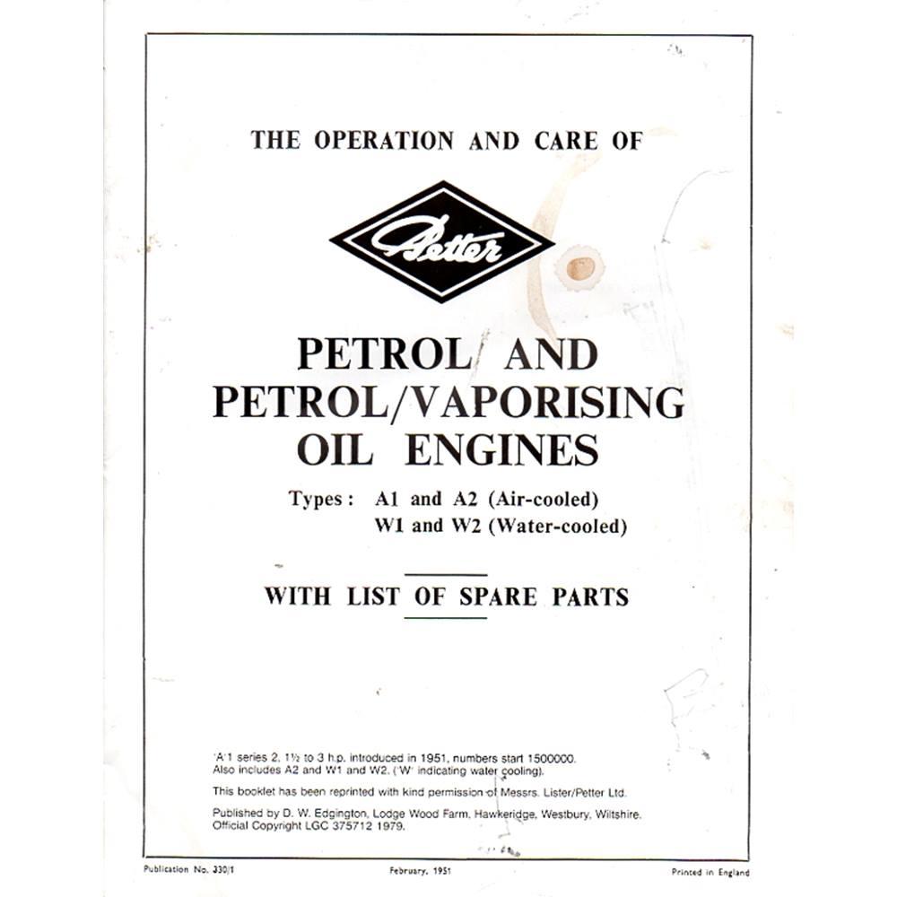 hight resolution of 2 vintage car maintenance manuals vauxhall victor petter petrol and petrol vaporising oil engines