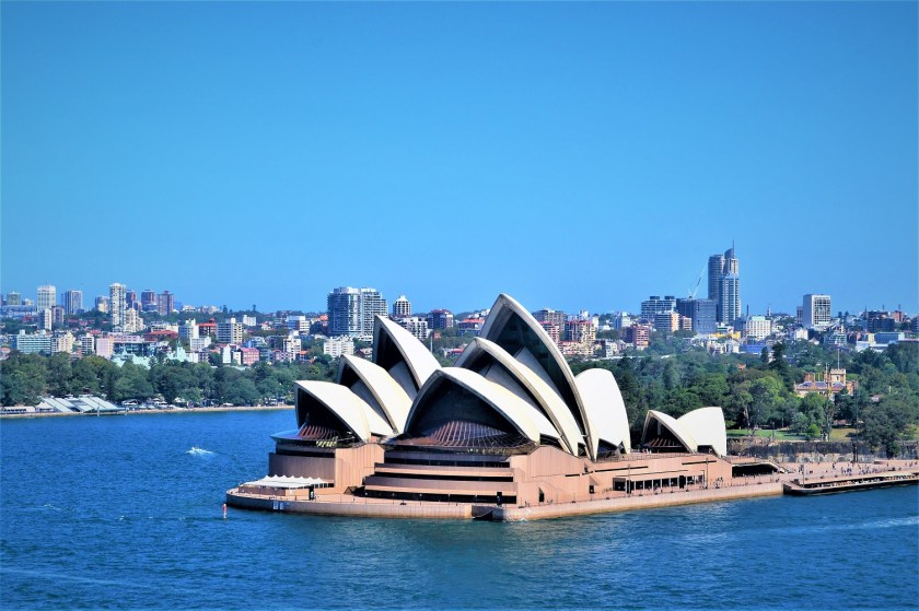 Sydney Opera House - A view from the Harbor Bridge