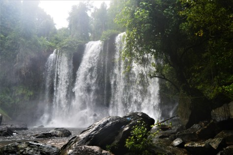 A Waterfall in Phnom Kulen, Cambodia