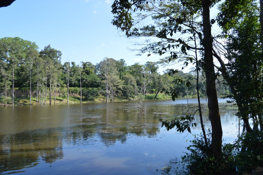 Siem Reap River flowing near the Angkor Thom south gate inSiem Reap, Cambodia