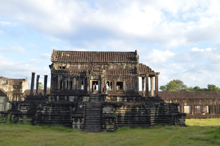 South library situated on the courtyard of Angkor Wat, Siem Reap, Cambodia