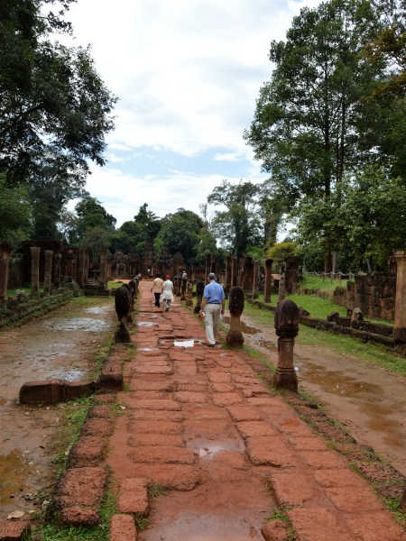 Causeway from the entrance to the middle enclosure of the Banteay Srei temple