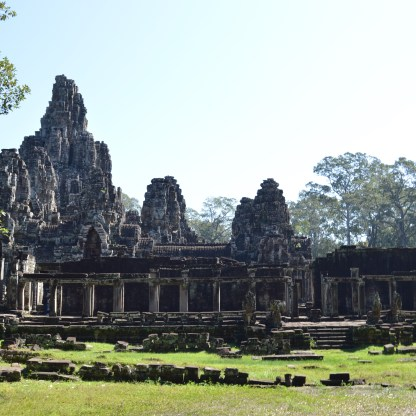 A view of the Bayon temple
