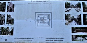 Layout of the Ta Prohm temple complex