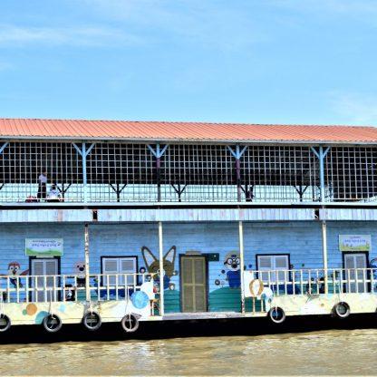 A floating school on Tonlé Sap, Cambodia